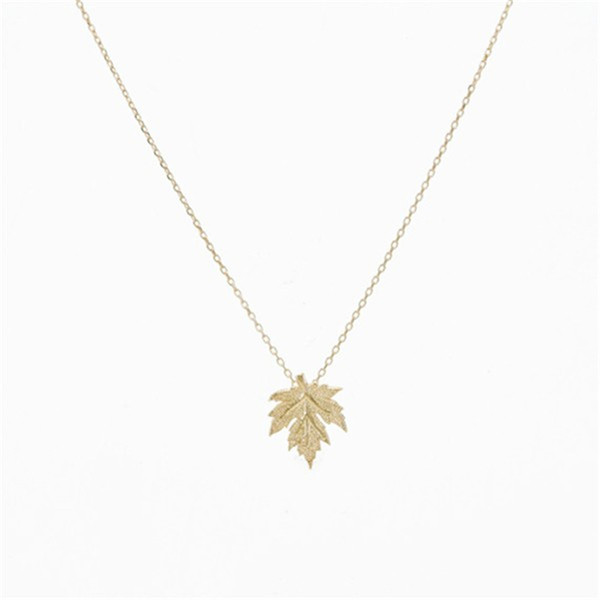 Leaf necklace in Gold, Silver dainty handmade necklace Jewelry Accessories Gold Canada Maple Leaf Necklace Pendant