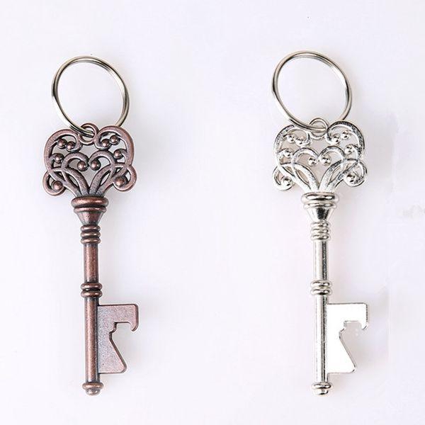 Vintage Şişe Açacağı Anahtarlık Taşınabilir Anahtar Şekli Metal Bira Açacağı Yaratıcı Retro Mini Taç Anahtarlık Mutfak Aletleri TTA1361