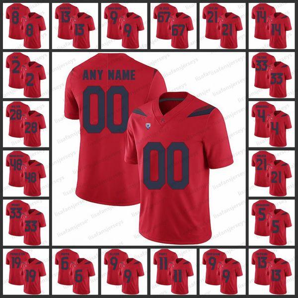 quality design 5a931 b5715 2019 Custom Arizona Wildcats Jerseys 13 Brandon Dawkins 14 Khalil Tate 8  Nick Foles 28 Nick Wilson Custom College Football NCAA Jerseys From ...