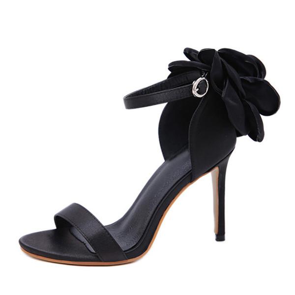 Модные женские босоножки на высоком каблуке с цветочным принтом, с ремешком и пряжкой, летние вечерние женские туфли на каблуке. LX-125