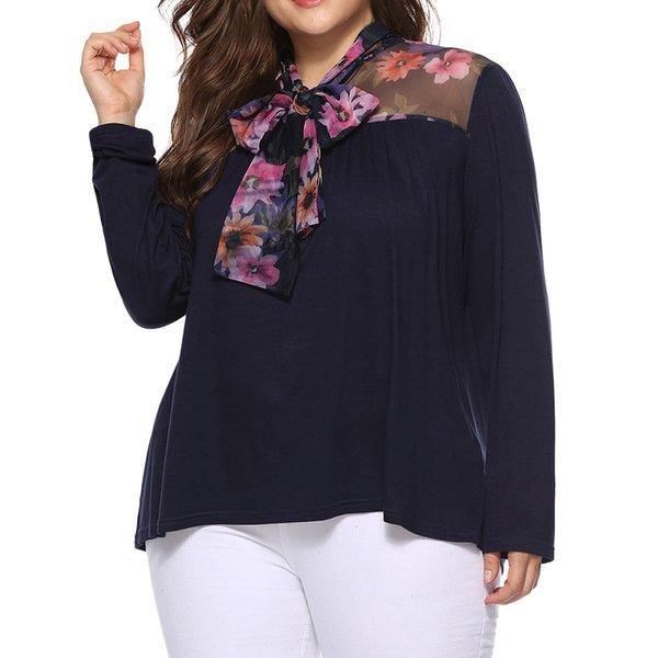 eb4591b6441 Женские топы и блузки женские повседневные рубашки с длинным рукавом Блузки  Женские туники Большой размер blusas