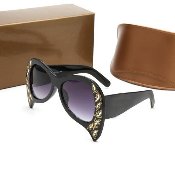 Gucci GG00143 золото / черный круглый очки 2019 оправы для очков 48 мм мужские дизайнерские очки Очки новый с коробкой