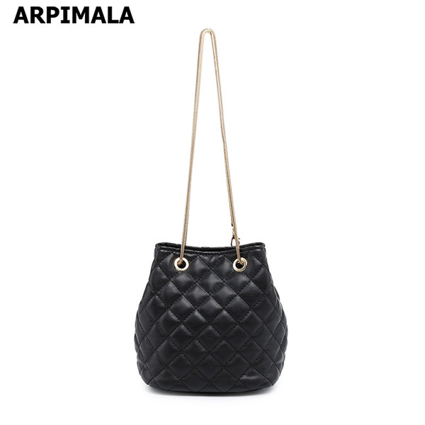 Women/'s Quilted Design With Chain Strap Messenger Shoulder Crossbody Handbag