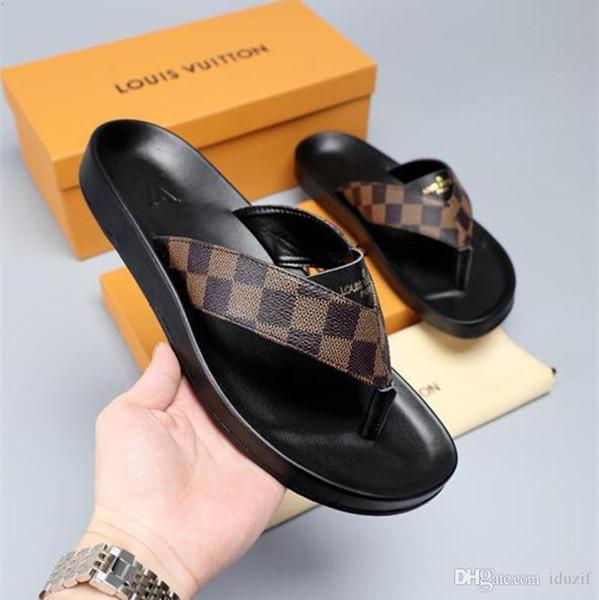 connoryjy15 / 2020 Italia Lujo Deslizamiento Verano Moda Ancho plano Resbaladizo con sandalias gruesas Zapatilla Hombres Mujeres Sandalias Zapatos de diseño Chanc