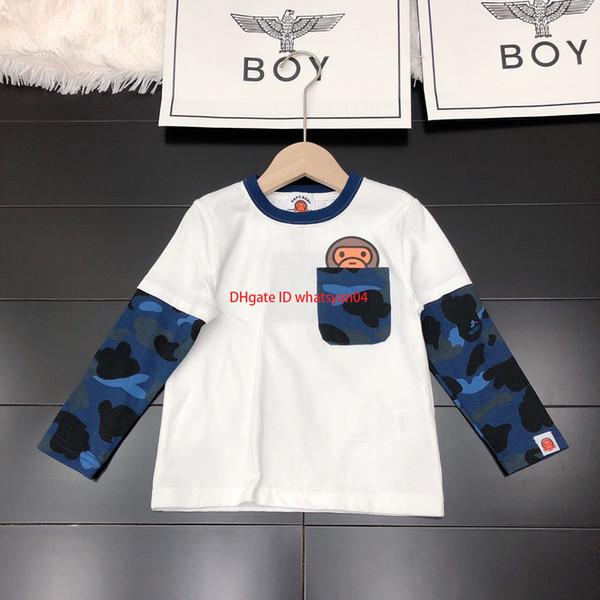 Дети с длинным рукавом пуловер дети дизайнер одежды осень новый шить рукав толстовка хлопчатобумажная ткань толстовка
