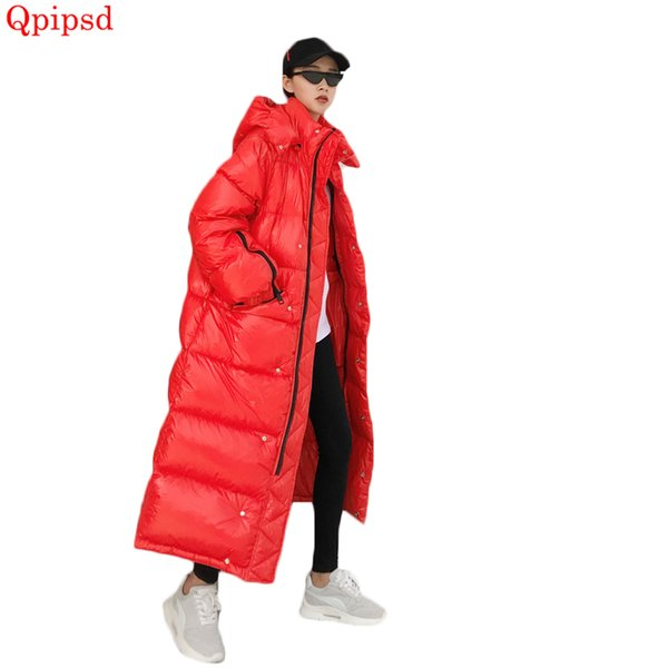 Long winter down jackets 2019 fashion thicken warm down parkas coat womens hooded cotton coats winter female cotton clothes