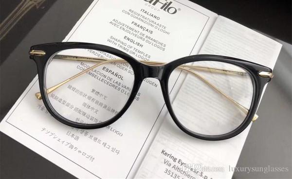 Новые Роскошные Очки Женщин Дизайнер Популярные Очки Выдалбливают Оптические Линзы Кошачий Глаз Полный Кадр Черная Черепаха Серый Розовый С Case