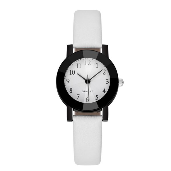 Moda Simples Preppy Estilo relógios de quartzo de pulso de alta qualidade elegante relógio para senhora