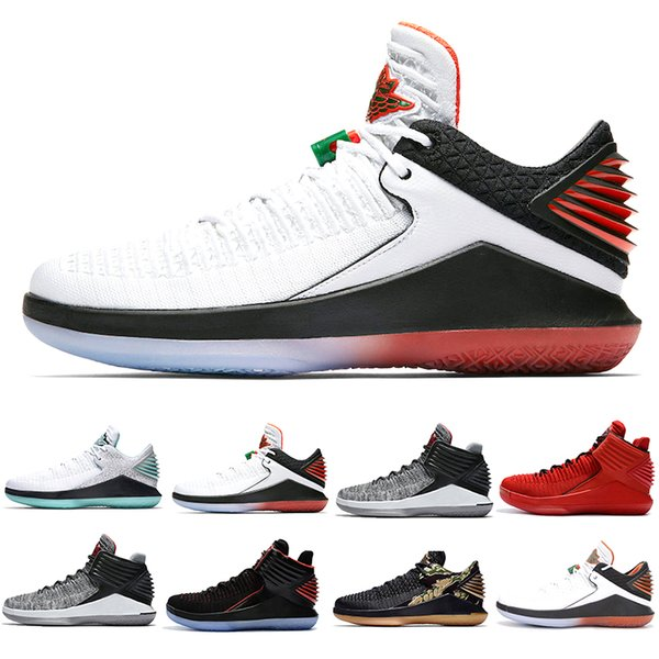 XXXII 32 Boardroom Herren Basketball Schuhe Herren 32s Jade Camo Gezüchtet Wie Mike MVP Rosso Corsa Gatorade Schwarze Katze Sport Turnschuhe US 7-12