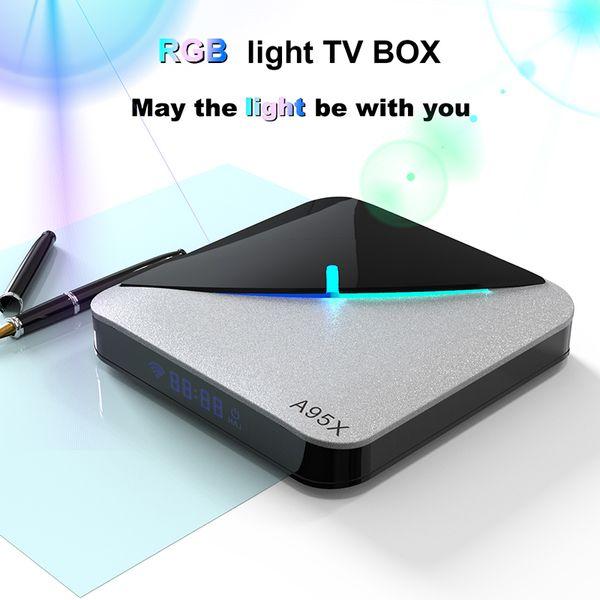 top popular A95X F3 Air Android 9.0 TV Box Amlogic S905X3 2GB 4GB 16GB 32GB 64GB Dual WiFi 8K Media Player 2021