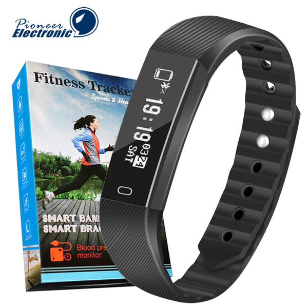 best selling ID115 F0 Smart Bracelets Fitness Tracker Step Counter Activity Monitor Band Alarm Clock Vibration Wristband for iphone Samsung Android phone
