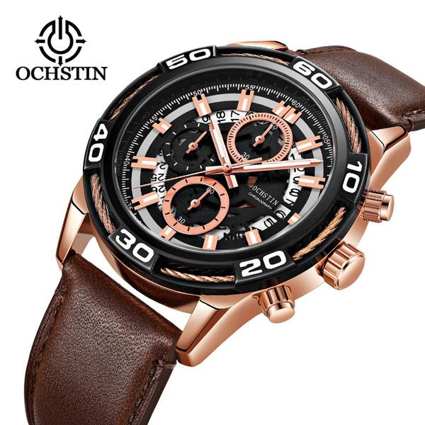 OCHSTIN marque nouvelle montre à quartz montre pour calendrier d'affaires multifonctionnel d'affaires transfrontalier mâle