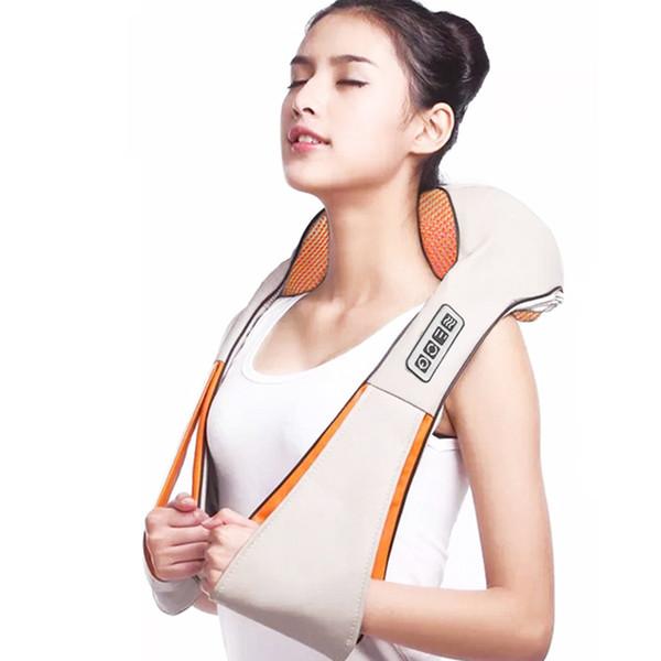Shiatsu Massaggiatore ELETTRICO MASSAGGIA SCIALLE PER COLLO//SPALLA//posteriore//corpo con il calore