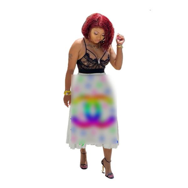 2019 designer woman summer dresses Rainbow Letters Pleated Dress Women Luxury Patchwork Short Skirt Party Dress Fashion Clothing S-2XL C7811