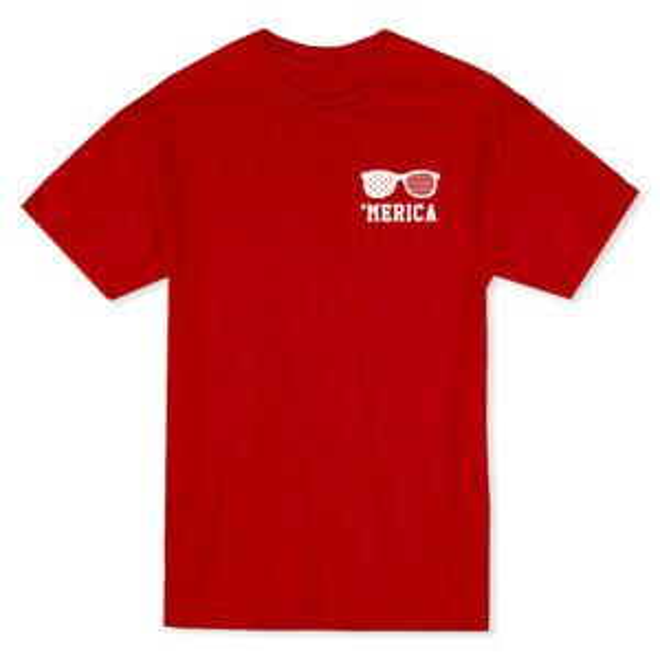 Merica Occhiali da sole PoSummeret Logo Men 039 s Red T shirt