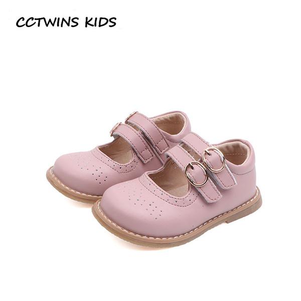 CCTWINS Crianças Sapatos 2019 Primavera Crianças Moda Sapatos de Festa Babys Couro Genuíno Mary Jane Meninas Marca Plana Preto GM2284