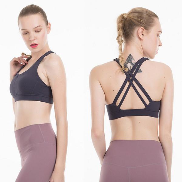 top popular LU Womens Sports Bra Crop Top Yoga LU Womens Designer T Shirts Gym Vest Workout Bra Clothes Tank Top For Womens Size XS-XL 2020