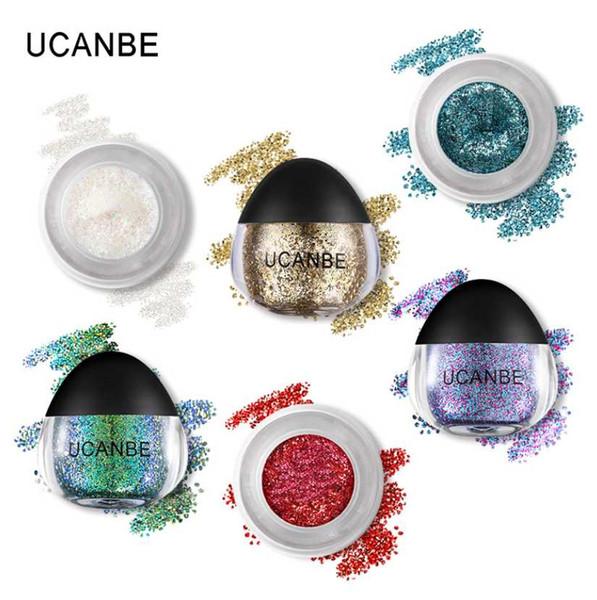 UCANBE Glitter Highlighter Makeup Sparkling Cream Face Body Hair Paint Paste Diamond Metallic Festival Body Eye Gliter 11 Color