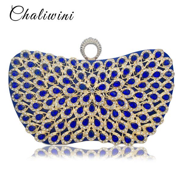 New Design Elegant Metallic Colorful Diamond Beaded Clutch Girls Wedding Evening Bags Ladies Day Clutches Party Women Purse