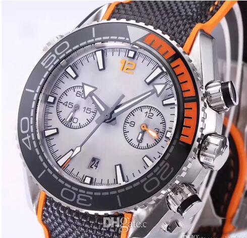Clasnight montre de lumière Chronographe VK Montres À Quartz Hommes Top horloge de luxe Professional 007 Wristwatchessic super bleu vert