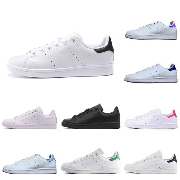 Adidas Stan Smith Yeni Rahat Ayakkabılar smith erkekler kadınlar yeşil siyah beyaz mavi kırmızı pembe gümüş erkek stan moda deri ayakkabı flats sneakers 36-45