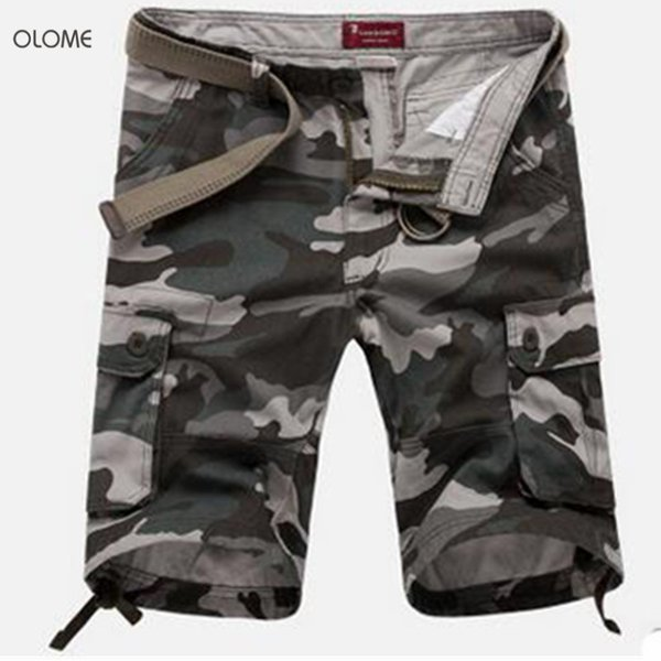 Olome New 2019 Cargo Shorts Cool Camouflage Summer Hot Sale Cotton Casual Men Short Pants Brand Clothing Comfortable Soldier C19041701