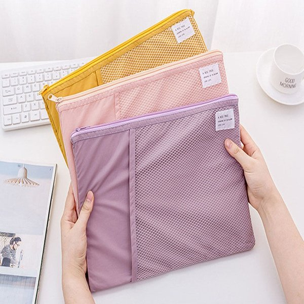 New Foldable Document Folder Storage Pouch Package for A4 Paper Portable Pocket Bill Pouch File Folder Office & School Supplies #691379