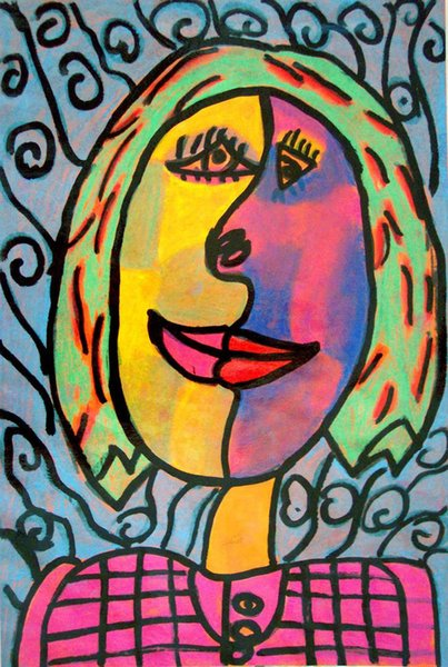 2019 Pablo Picasso Abstract Art Two Faces Of The Girl Oil Painting Reproduction High Quality Giclee Print On Canvas Modern Home Art Decor From