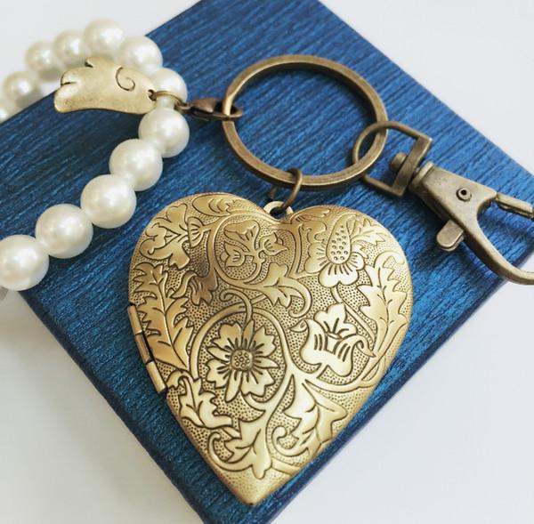 Anahtarlık anahtarlık anahtarlık çanta mutlu çiçekler fotoğraf kutusu açabilirsiniz fotoğraf özel 5 renkler