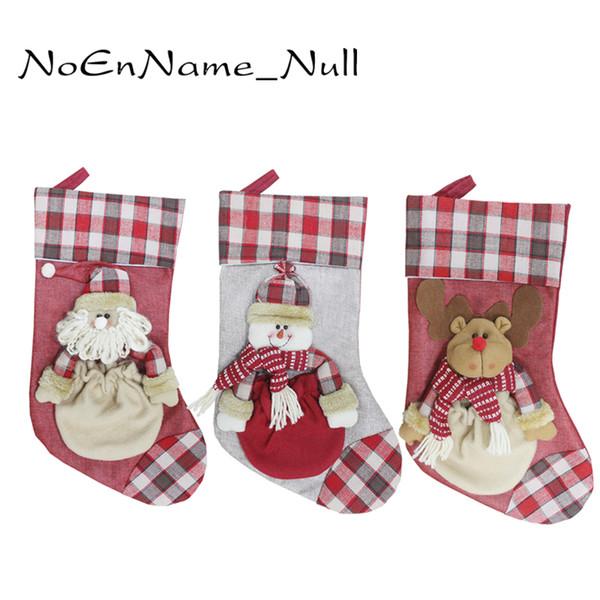 Christmas Decorations Santa Sacks Christmas Stocking For Home Xmas Tree Ornaments Navidad Gift Bags New Year Decor