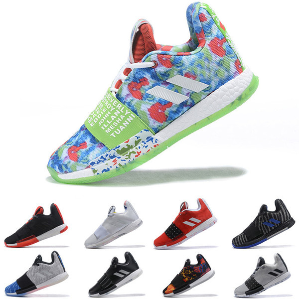 Adidas james harden 3 vol.3 III erkek Basketbol Ayakkabıları Yüksek Kaliteli Trainer Spor Sneaker boyutu 40-46
