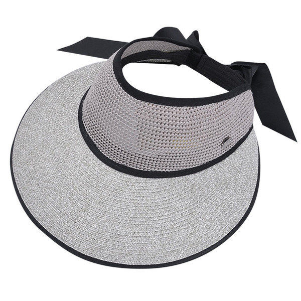 KLV 2019 Ladies Women Casual Wide Brimmed Floppy Foldable Solid Summer Sun Beach Hat free shipping D4