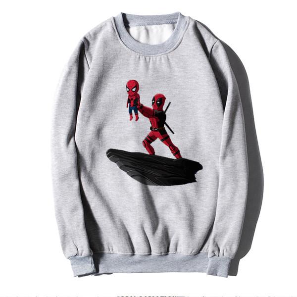 Großhandel Deadpool Marvel Comics Street Hoodies Pullover Frauen Männer Freunde Sweatshirt Harajuku Maxi Hip Sweat Cartoon Kleidung Von Redbud03,