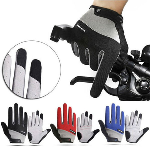 B-Forest outdoor wind gloves Road Mountain Bike Cycling Full Finger Gloves MTB BMX Bicycle Riding Touchscreen LJJZ117