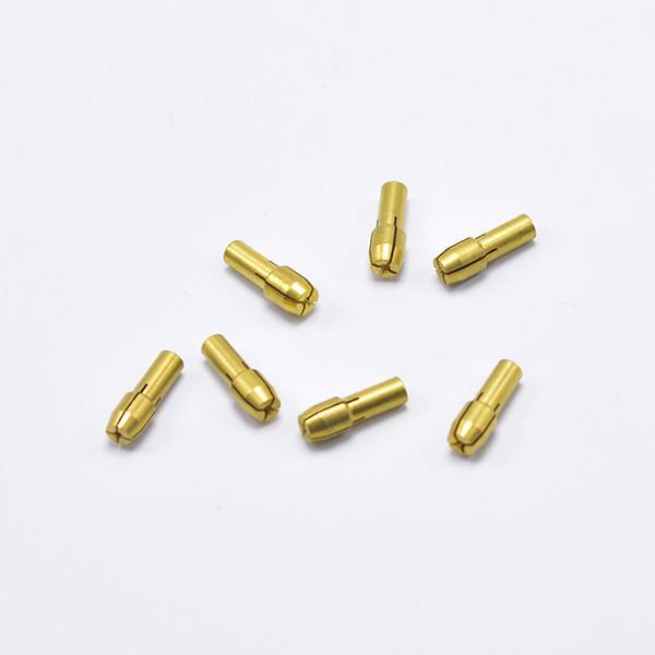 Portabrocas de latón 10 piezas 0.5 / 0.8 / 1.0 / 1.2 / 1.5 / 1.8 / 2.0 / 2.4 / 3.0 / 3.2 mm Accesorios de herramienta rotativa de mini taladro 1003921002