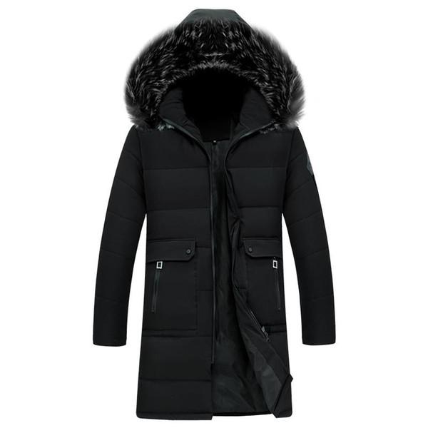 Winter Fashion Man Coat Windproof Keep Warm Long Section Men's Hooded Parkas Comfortable Men's Parkas Coats