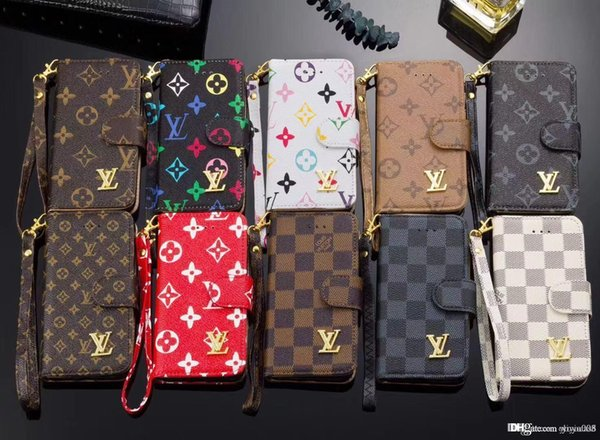 Brand ca e for am ung 7 edge flip leather wallet phone ca e cover for am ung 8 8 plu 9 9 plu note 8 note 9
