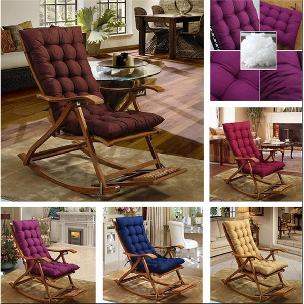 Solid Universal Recliner Rocking Chair Mat Sofa Soft Back Cushions Pillow for Chair Tatami Mat Lounger Recliner Cushion Pad