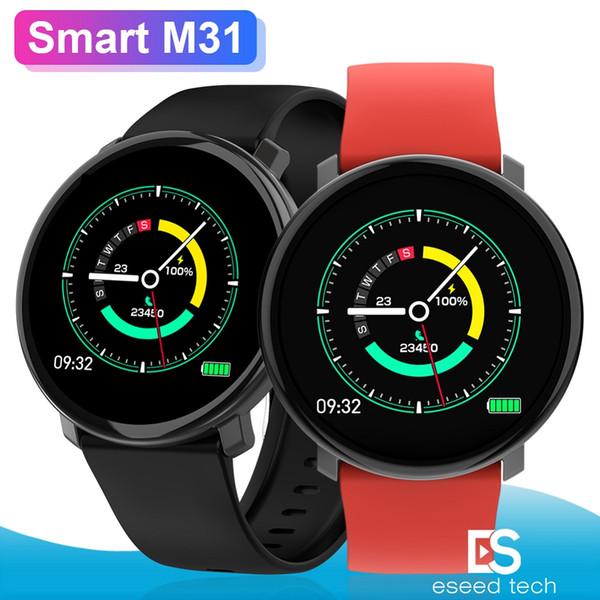 Tracker Wristband indossabili dispositivi Bluetooth della fascia M31 intelligente Bracciale impermeabile dinamica della frequenza cardiaca per l'iphone Samsung Phone