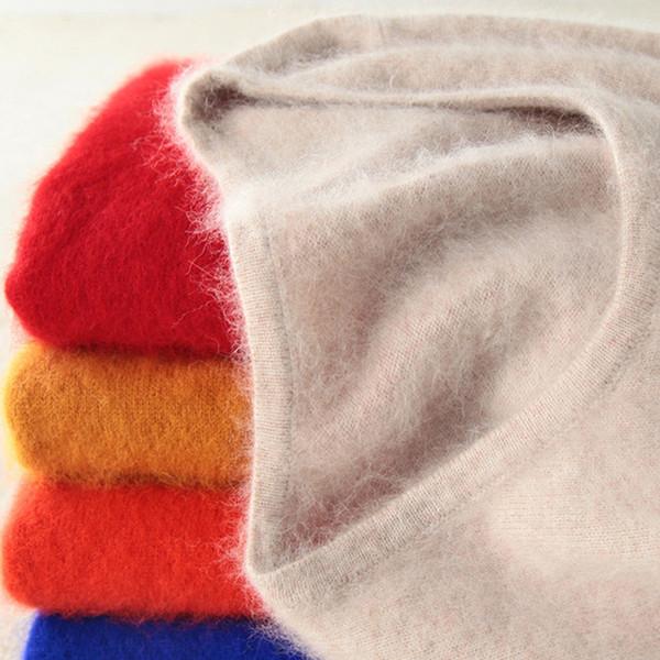 Super Chaud Fluffy Mink Cachemire Doux Fourrure O-cou Chandails et Pulls pour Femmes Automne Hiver Jumper Femme Marque Jumper T190831