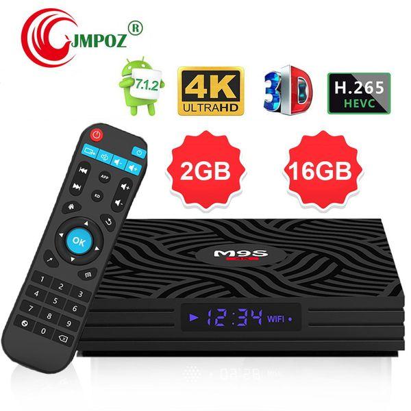 cheapest M9S W6 Android 7.1 TV Box Quad Core 2G 16GB Amlogic S905W 4K Media Player IPTV Box Support 3D Free Movie Better MXQ PRO 2GB RK3229