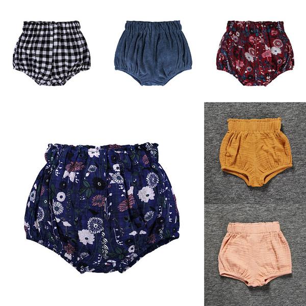 20 Farben Baby PP Shorts Blume Gedruckt Kinder Sommer Dreieckige Brot Hosen Shorts Baby Mädchen PP Hosen Pumphose