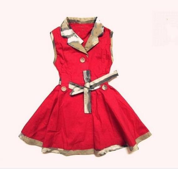 Nouveau Modèle D'été Vente Chaude Enfants Fille Robe Designer Style Européen Sans Manches Princesse Robe Ceinture Jupe Livraison gratuite
