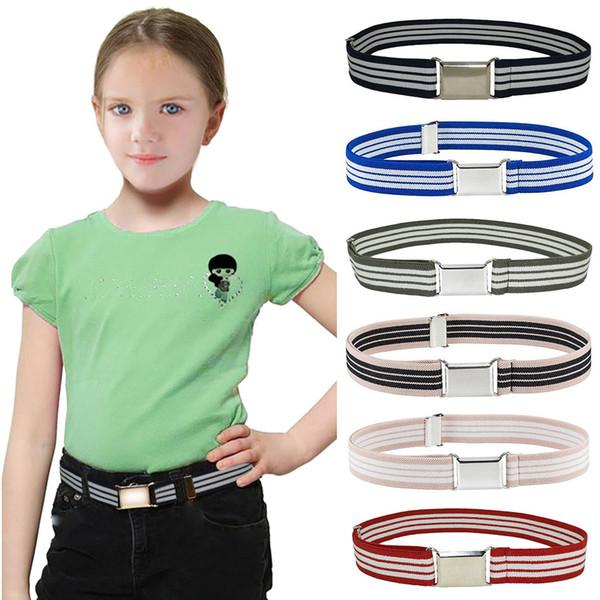 d6553b07aa4 Cinturón de cuero para hombre para toda temporada Cinturón elástico para  niños Cinturones elásticos ajustables para
