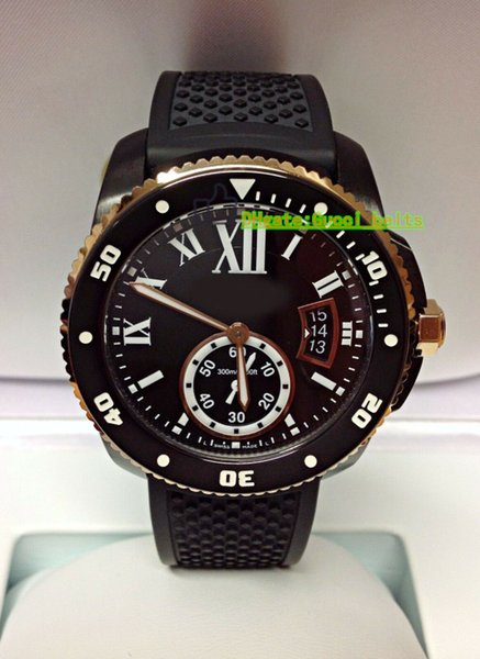 Best Edition Luxury Watch 42MM Diver W2CA0004 ETA 2836 Automatic Men's Rubber sport watches