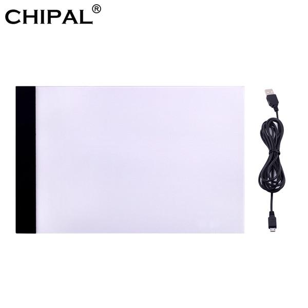Venta al por mayor de Tabletas digitales de montón Chipal LED Tabletas gráficas de escritura Pintura Caja de luz Tablero Tablero Copia Pads Digital Dibujo Tablet A4 COP ...