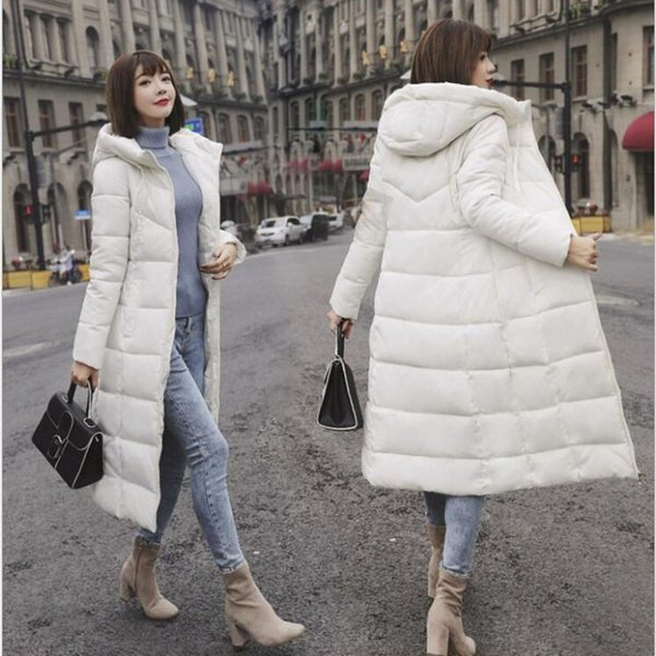 Winter Jacket Female Parka Coat Plus size M-6XL Fashion Down Jacket Long Hoodie Down Thick Long Coat Women Clothing