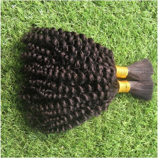 Pure Natural Black Color Brazilian Loose Wave Hair Bulk Extensions Cheap 100g 100% Human Hair Bulk Hair For Braiding No Weft