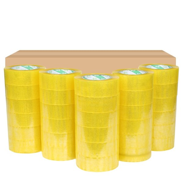 4 rolls Carton Sealing Clear Packing/Shipping/Box Tape- 2 Mil- 2inch x 33 Yards Office Film Adhesive Tape Gift Ribbon Strapping