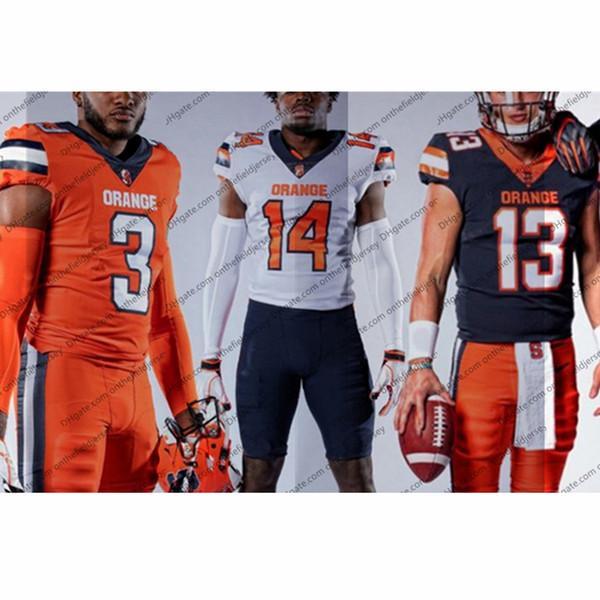 Custom Syracuse Orange 2019 New Football Jersey Cualquier nombre Número 13 Tommy DeVito 5 C. Butler 7 Andre Cisco 86 Trishton Jackson